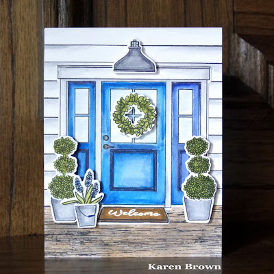 A handmade card for Kappa Kappa Gamma sorority.