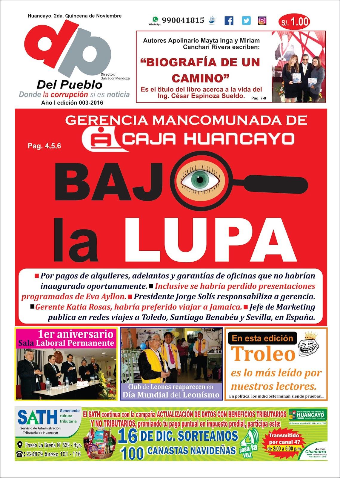 Quincenario del pueblo online huancayo gerencia de caja huancayo bajo la lupa - Oficina virtual de caja espana ...