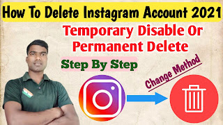 How To Delete Instagram Account 2021 Hindi By Technical Rakesh