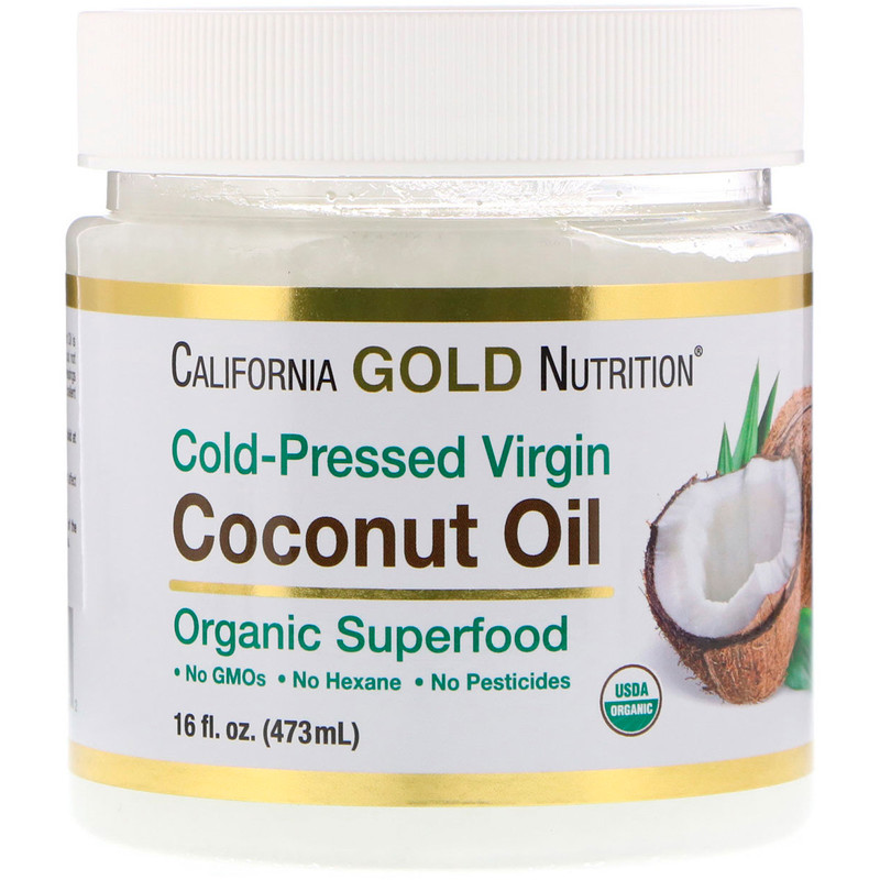 California Gold Nutrition, Cold-Pressed Organic Virgin Coconut Oil, 16 fl oz (473 ml)