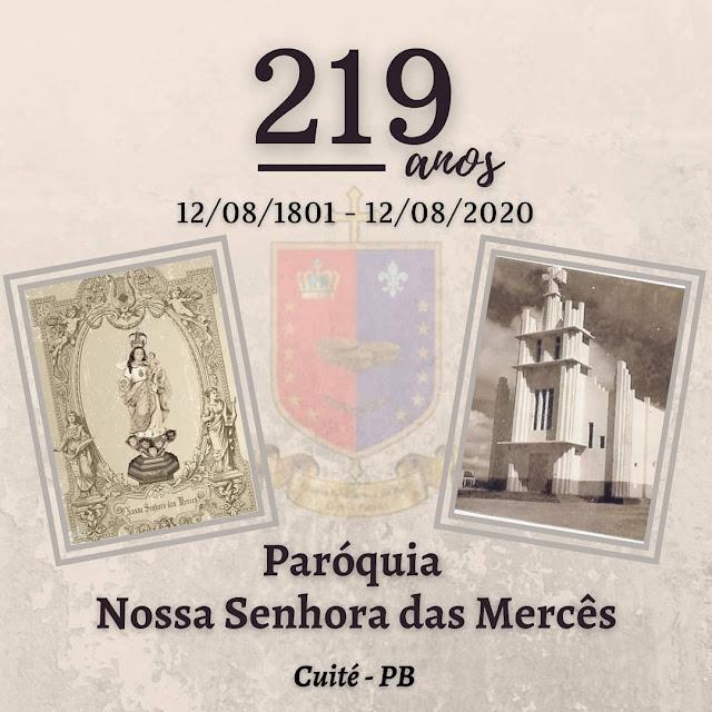 Paróquia de Cuité completa 219 anos