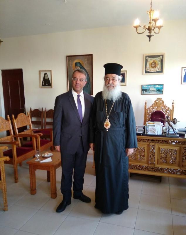 Εθιμοτυπική επίσκεψη του Βουλευτού κ. Χρήστου Σταϊκούρα στον Σεβασμιώτατο