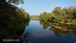 View of Chalakudi river from Vazhachaal Bridge
