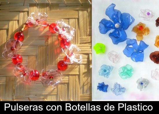 pulseras, brazaletes, plástico, reciclar, bisutería, manualidades