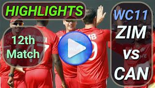 ZIM vs CAN 12th Match