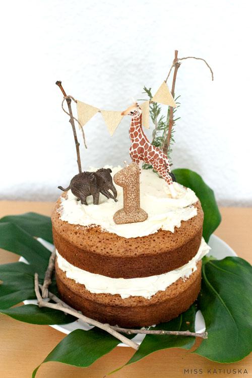 Tarta de cumpleaños naked cake