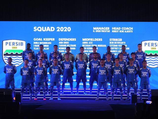 Persib Bandung Umumkan Skuad untuk Liga 1 2020