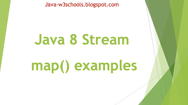 Java 8 Stream map() examples - Stream Conversions