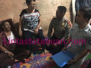 Kepolisian Daerah Lampung dan Pihak Jasaraharja, Kungjungi Korban Kecelakaan yang Terjadi di Tol Lampung