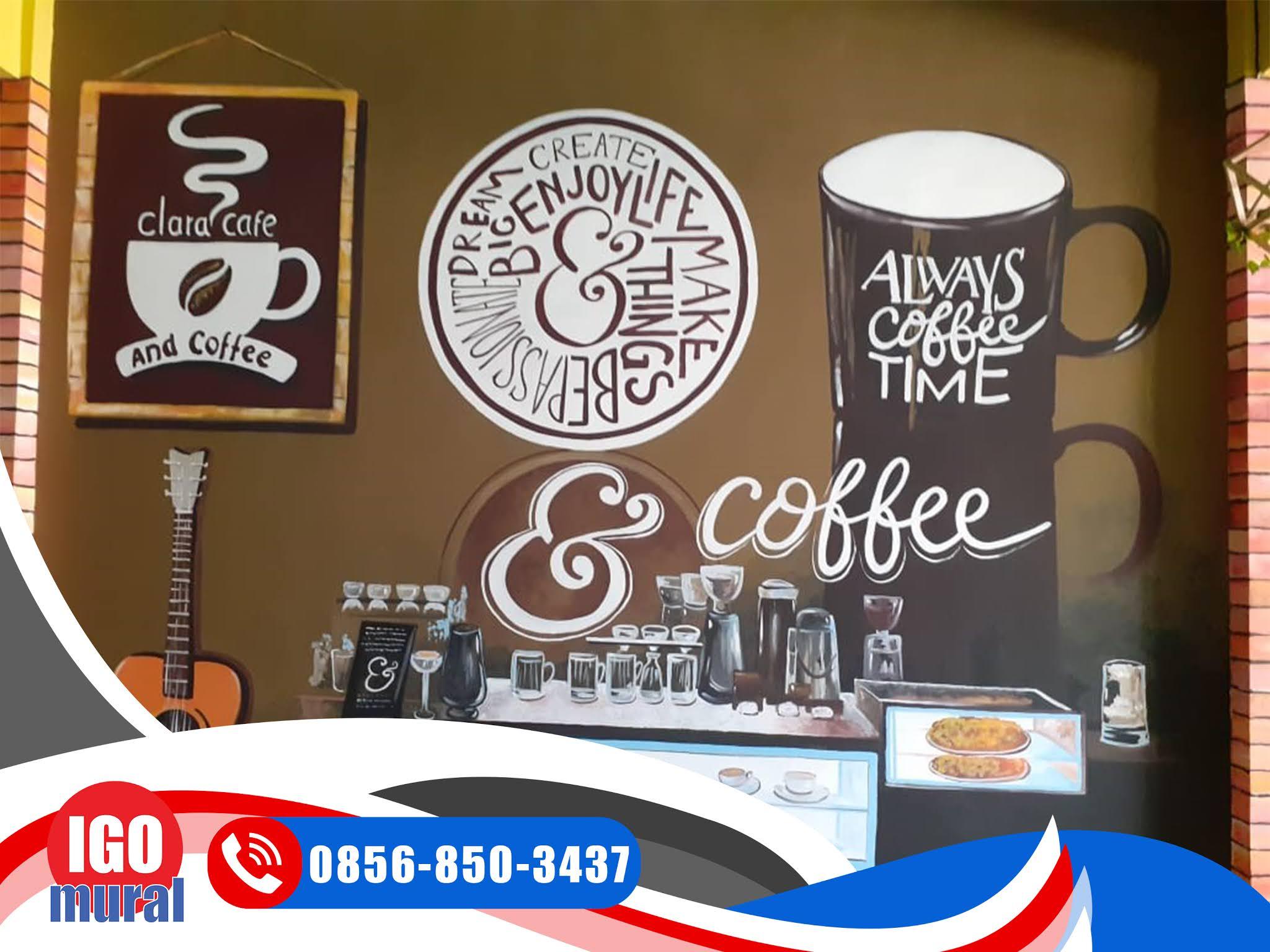 Lukisan Mural dinding cafe