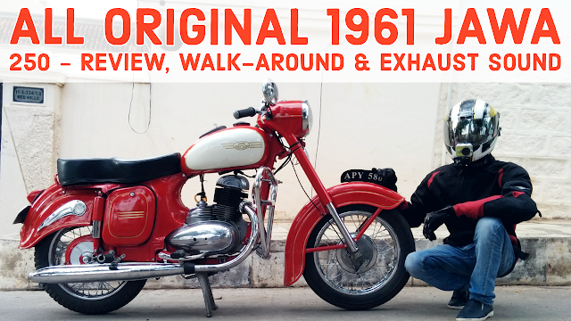 All Original 1961 Jawa 250cc Type 353 Motorcycle - Review, Exhaust sound and walkaround