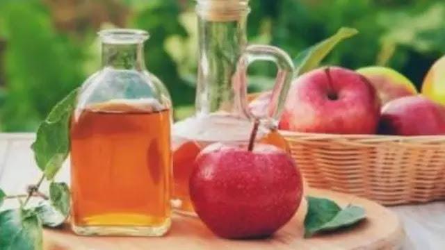 دهن خل التفاح للبطن