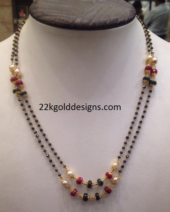 Black Diamonds Necklace with weight