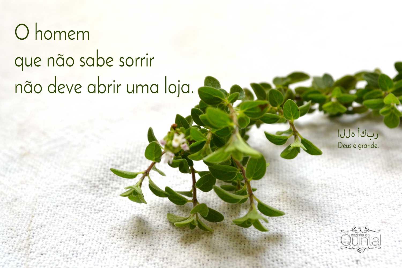 Provérbio árabe para combinar com a beringela à moda árabe na Cozinha do Quintal =)