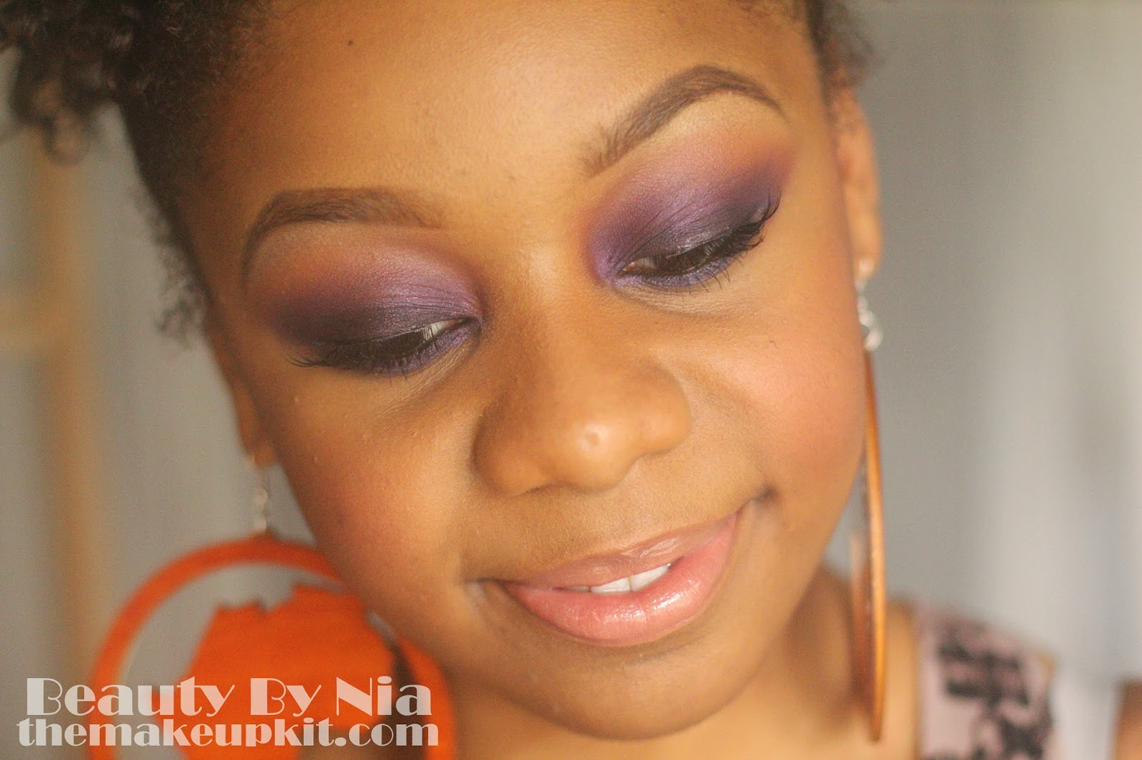 Smoked out purple eye make up look 6
