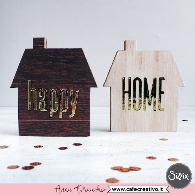 Home Decor: 2 case di cartone effetto legno e scritte foil (con video tutorial)