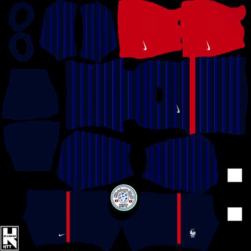 Kit Đội Tuyển ( ĐTQG ) Pháp + Logo Dream League Soccer 2021