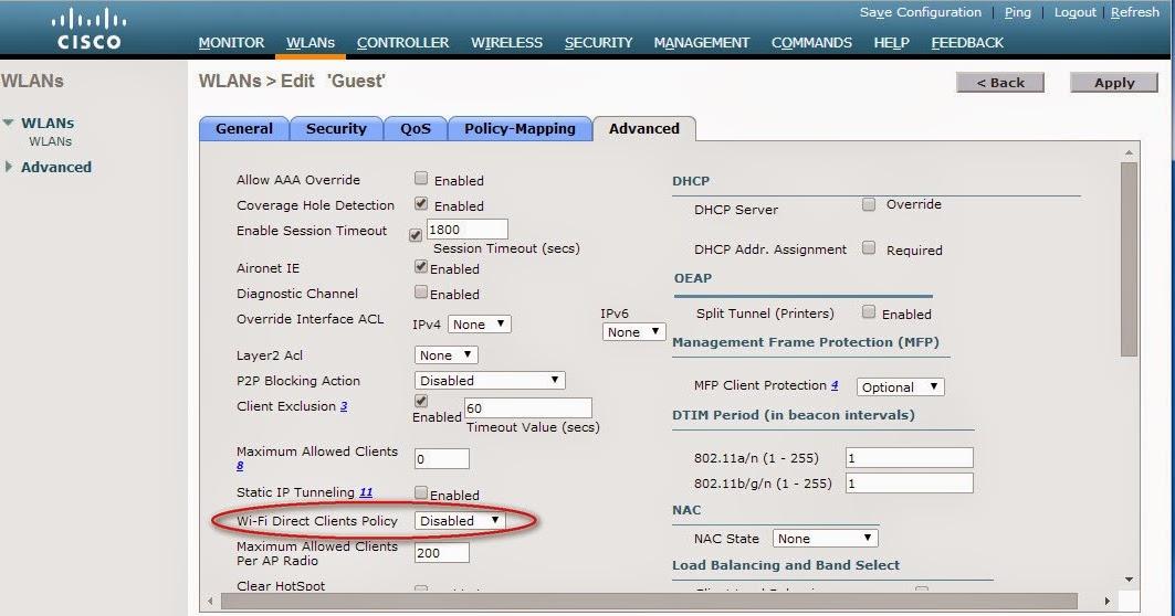 TechOn9 - Technical Online: Cisco Wireless LAN Controller change