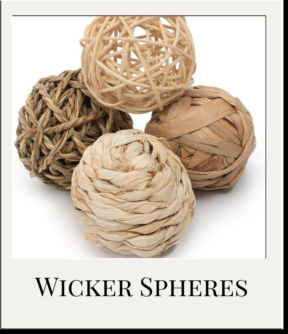 Wicker Balls Decor