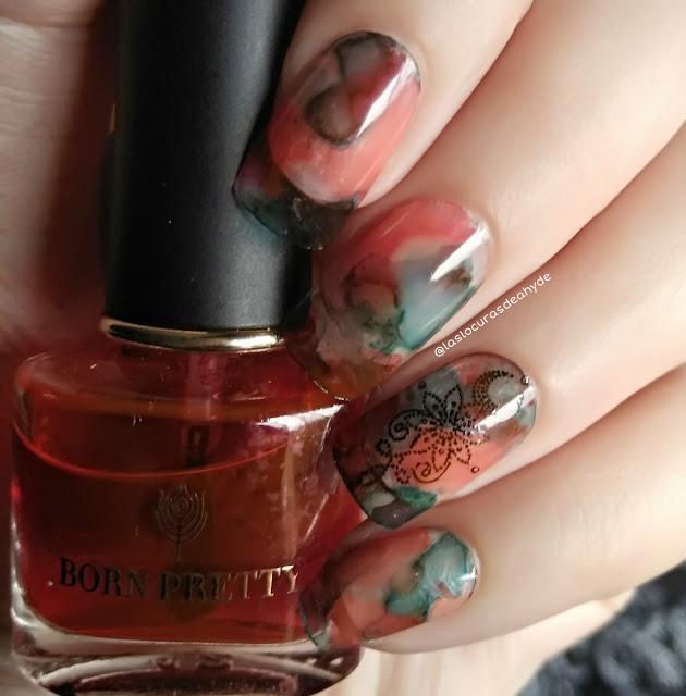 nail art efectro acuarela