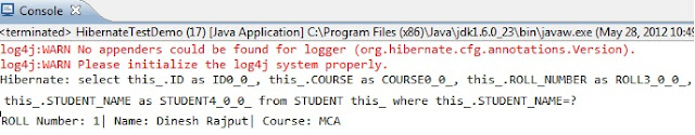 Criteria in Hibernate Example
