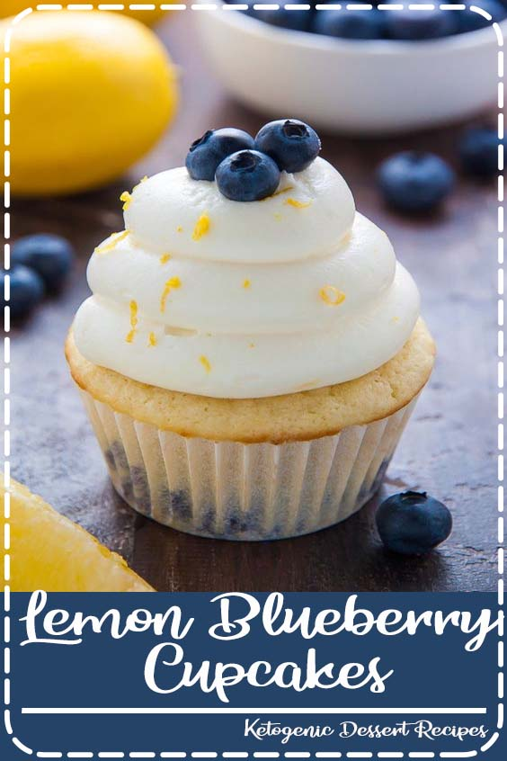 Topped with homemade Lemon Cream Cheese Frosting and Fresh Blueberries   Lemon Blueberry Cupcakes