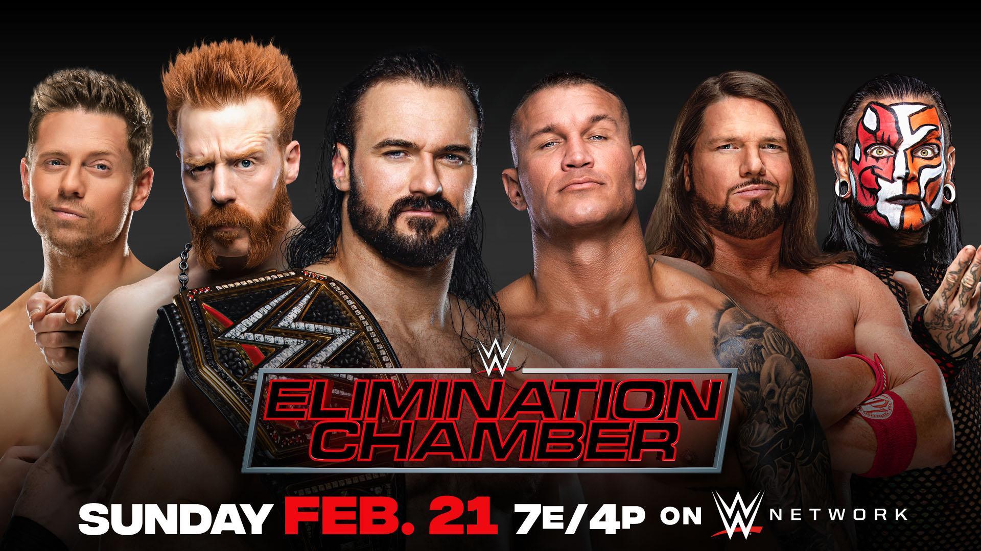 Drew McIntyre defenderá o WWE Championship contra cinco lutadores no Elimination Chamber