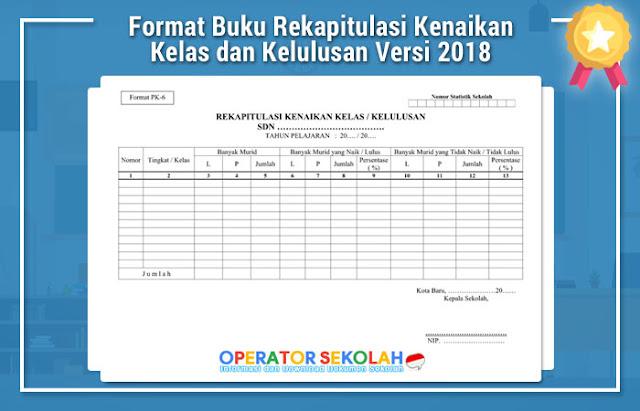 Format Buku Rekapitulasi Kenaikan Kelas dan Kelulusan Versi 2018