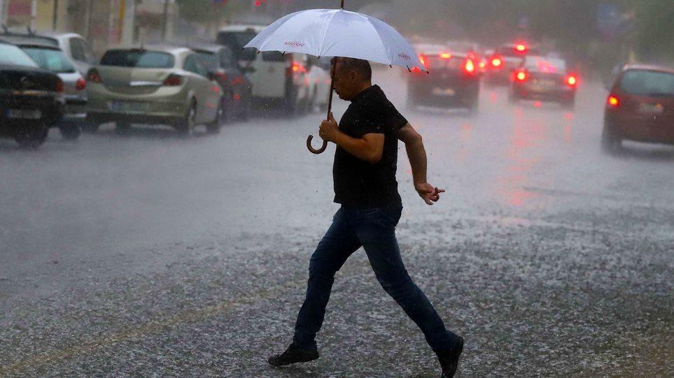 Κακοκαιρία «Μίνωας»: Σφοδρές βροχοπτώσεις, καταιγίδες και χαλάζι μέχρι την Τρίτη