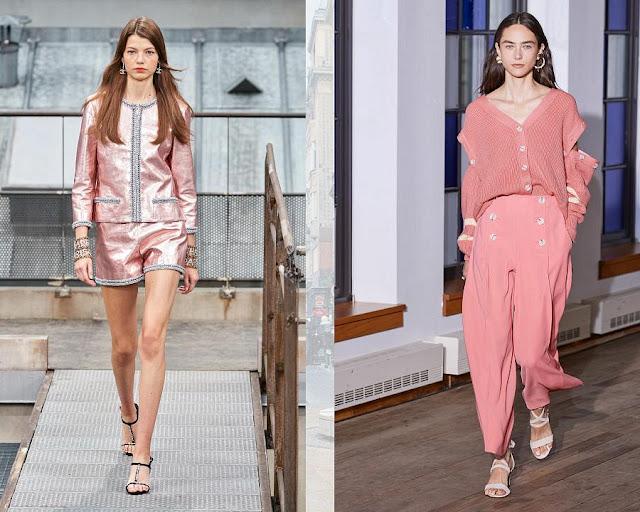 Розовый коралл модные цвета весна-лето 2020 2