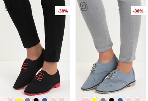 Pantofi Oxford dama moderni navy, negri ieftini