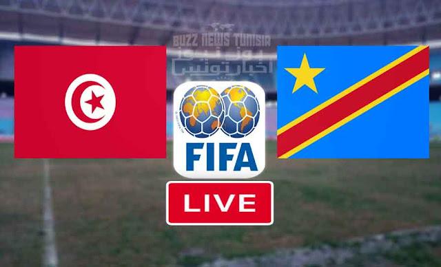 مباراة تونس وجمهورية الكونغو