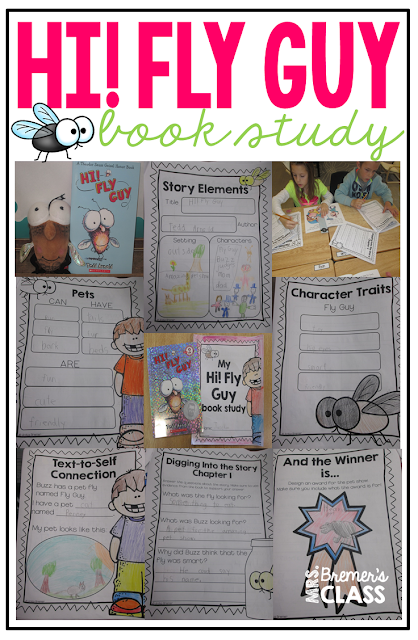 Our class LOVES Fly Guy! Here are some fun Fly Guy book study companion activities to go with the books by Tedd Arnold. Perfect for whole class guided reading, small groups, or individual study packs. Packed with lots of fun literacy ideas and guided reading activities. Common Core aligned. K-2 #bookstudies #bookstudy #novelstudy #1stgrade #2ndgrade #literacy #guidedreading #flyguy