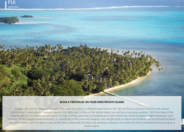 premie netent bygg et hus på en privat øy
