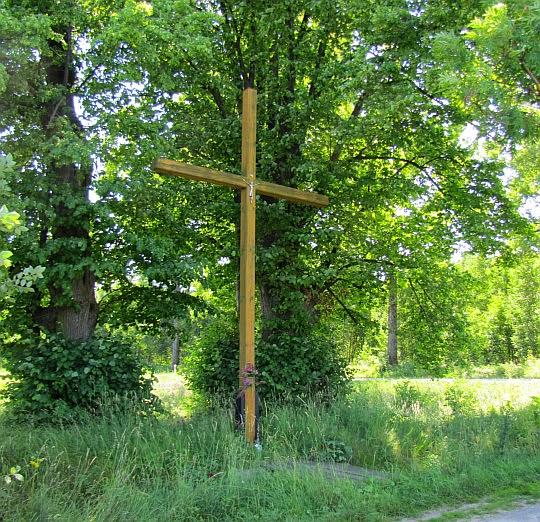 Krzyż przy drodze do Wilkanowa.
