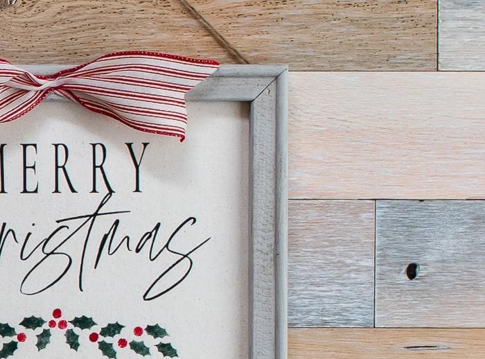 Christmas canvas DIY