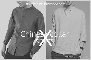 Two mens both are wearing Chinese collar shirt