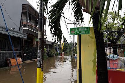 Banjir kembali melanda Perumahan Jatimulya