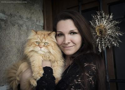 Me and my cat Puck, Mandragoreae by Victoria Francés