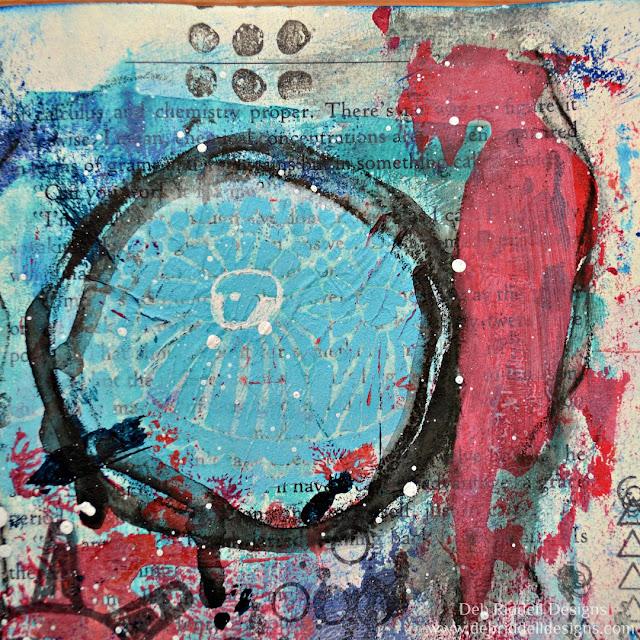 Listen Mixed Media Art Journal Page Detail