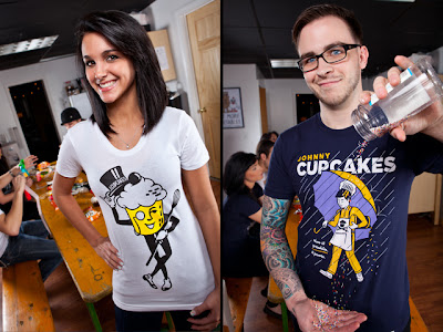 "Johnny Cupcakes Snack Time Collection - ""Mr. Cupcakes"" & ""When It Sprinkles It Pours"" T-Shirts"