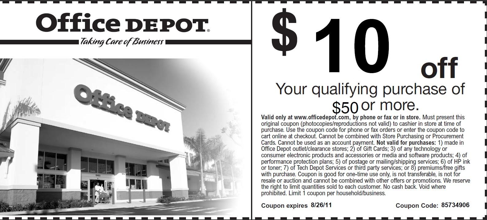 Office depot discount coupon