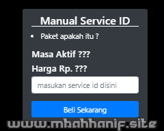 Manual Tembak Paket XL