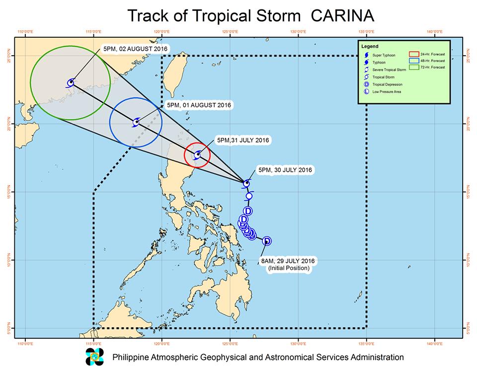 track tropical storm Carina