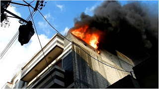 حريق كبير بمنزل عون حرس ووفات ابنه ذو الـ4 اشهر داخل المنزل