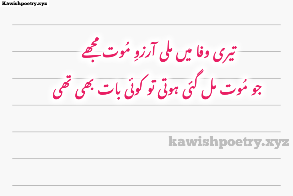 Sad Death Poetry In Urdu