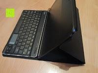 Tablet aufstellen mit Tastatur: Sharon Galaxy NotePRO 12.2 Hülle mit magnetisch befestigter Bluetooth Tastatur und integriertem Touchpad | Ultraslim Schutzhülle | deutsches Layout | Tastatur herausnehmbar