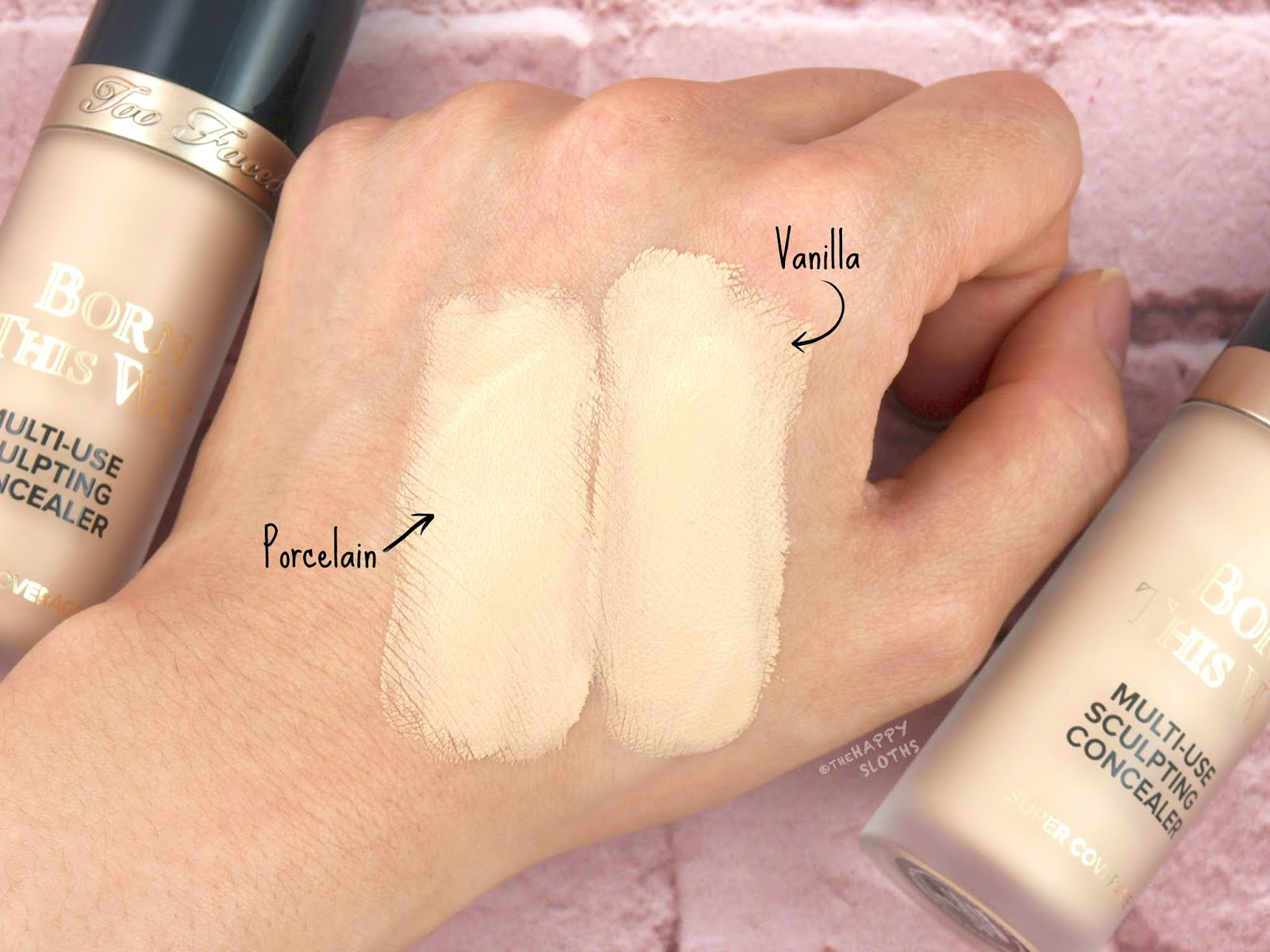 "Too Faced | Born This Way Super Coverage Multi-Use Sculpting Concealer in ""Porcelain"" & ""Vanilla"": Review"