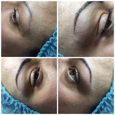 Microblading in Reading review. Before and after images.