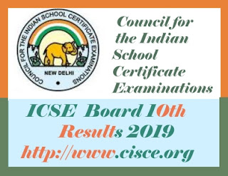 ICSE 10th Results 2019, ICSE Results 2019, ICSE 2019 Result, CISE Results 2019,